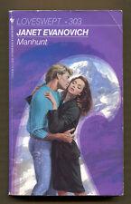 MANHUNT by Janet Evanovich - 1989 Bantam PB - Loveswept #303