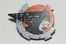 CG3467...WOODEN BROOCH OF A WITCH - FREE UK P&P
