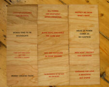 Jenny Holzer set of 12 Truisms Wooden Postcards screen print un-singed rare wood