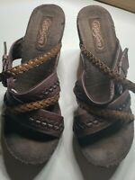 Skechers Wedge Sandals Womens Size 8 Chocolate Brown Style 47436 Shoes GUC