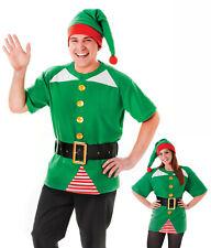 Unisex Mens Ladies Jolly Elf Pixie Christmas Xmas Fancy Dress Costume Kit