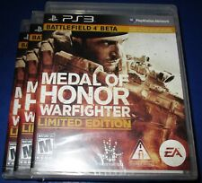Lot of 3 Medal of Honor: Warfighter - Limited Edition PS3  *New-Free Shipping!