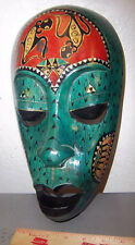 Wood Tribal Style Africa Mask, hand carved, 13 x 7 inch, fantastic reproduction