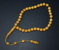 Natural Baltic Amber  Islamic  Prayer  33  beads Tasbih Misbaha Muslim Rosary