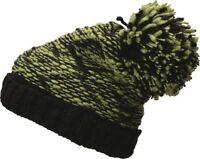 Strickmütze Herren Winter-Mütze Zweifarbig Highloft Fleece Melange Bommelmütze