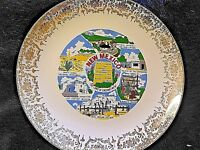 State of New Mexico Plate Silver Carlsbad Caverns Navajo Weaver Taos Indian