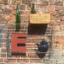 Metal Vintage Bread Baskets Industrial Wall Shelf Storage Wedding Rustic Tray