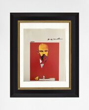 Andy Warhol 1987 Original Print Hand Signed with Certificate. Resale $5,850