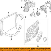 Genuine Chrysler 55038026AG Radiator Cooling Inlet Hose