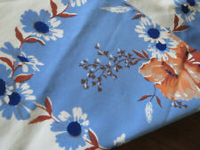 Vintage 1950s California Tablecloth Vivid Colors Flowers