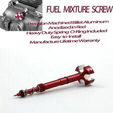 Pro Factory Carburetor Fuel  Mixture Screw Four-Strokes FCR Carbs Red