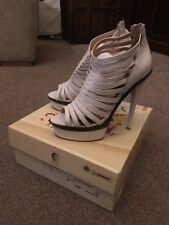 Bronx Wylde High Heel White Sandals Size 38 From Daniel Boxed RRP£99.99