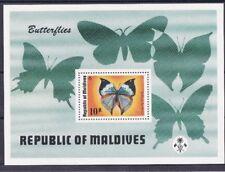 Maldive 1975 Bf 32 Farfalle MHN