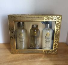 Russell & Windsor Rose Gold & Amaranth Body Care Gift Set Lotion/Body Oil/Bath