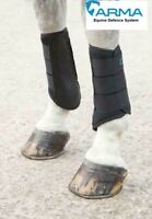 Shires Arma Neoprene Brushing Boots Tough Strike Pads