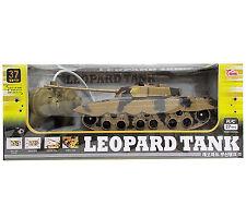 RC Leopard Tank Car Toy Radio Control Sound Light Children's Kids Gift
