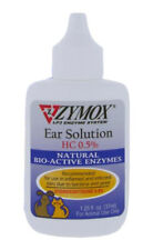 ZYMOX Pet King Ear Solution Hydrocortisone Medication Cleansing Treatment 1.25oz