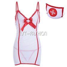 Nurse Doctor Uniform Costume Women Babydoll Lingerie Outfit Cosplay Fancy Dress