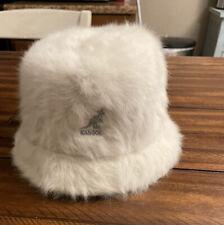 Kangol Cream Faux Fur Bermuda Bucket Hat Women's Large