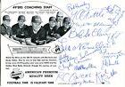1960 Signed 49ers Falstaff Beer Original Promo Photo 17 Signatures PSA/JSA Guar