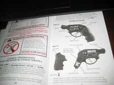 Ruger Lcr Instruction Manual; Excellant Shape; 39 Pages of Info