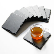 Kitchen Black Slate Square Cup Heat Insulation Pad Coffee Cup Stone Mat Pad 1PC