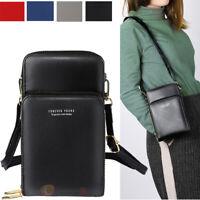 Womens Cross-body Cell Phone Case Shoulder Bag Pouch Handbag Wallet Purse Small