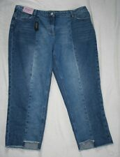 NEXT Boyfit Mid Rise Jeans Size 18 Regular Crop Leg 26 With Tags