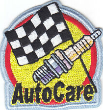"""""""AUTO CARE"""" PATCH -  Iron On Embroidered Patch/Racing, Vehicles, Cars, Autos,"""