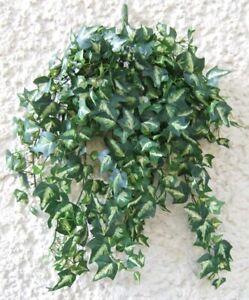 Künstliche Efeuranke grün-weiße Blätter 50cm Künstliche Ranke Kunstpflanze