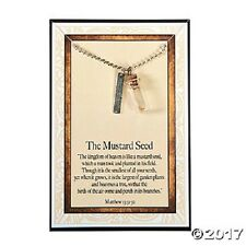 "MUSTARD SEED FAITH BLESSED NECKLACE  MUSTARD SEED 18"" MATTHEW 13:31:32  BLESSED"