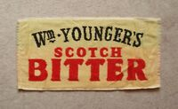 Wm Younger's Scotch Bitter Beer Bar Towel Pub Home Bar Man Cave New Unused