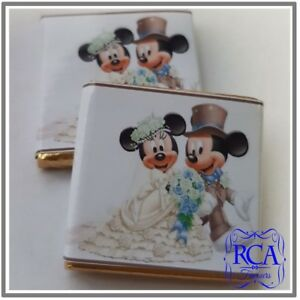 Personalised Wedding Day Milk Chocolate Neapolitan Mickey & Minnie Design Favour