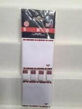 "Virginia Tech Hokies C.R. Gibson Sticky Note & Flag Set ""50 Sheets Per Pad""  New"