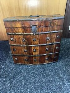 Victorian Wine Storage Case Box Solid Wood Antique