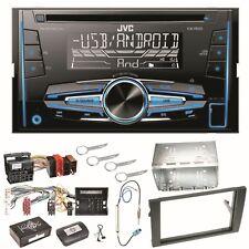 JVC KW-R520 Autoradio CD USB AUX Autoradio Einbauset für Audi A4 B7 Seat Exeo