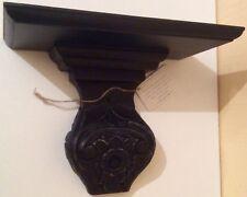 BN fabriqué à la main en bois Baroque Noir ebonized decorative CORBEL mur Console