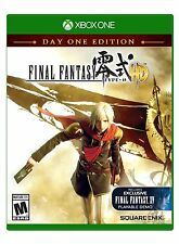 Final Fantasy Type-0 HD Day One Edition Xbox One Brand New Sealed Free Ship