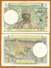 French West Africa, 5 Francs, 22-4-1942, P-25, aUNC