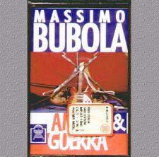 """MASSIMO BUBOLA """" AMORE E GUERRA """" MUSICASSETTA SIGILLATA  RARO!"""