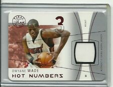 DWYANE WADE 2003-04 Flair Final RC JERSEY # 3/18 RUBY $$ DIE CUT CARD Exquisite
