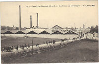 71 - cpa - PARAY LE MONIAL - Les usines de céramique
