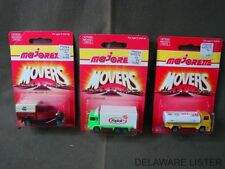 Vintage Lot of 3 MAJORETTE Delivery Truck MOVERS 200 Series Diecast Cars (New)