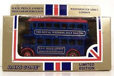 LLEDO ~ DG-15 ~ DOUBLE DECK BUS ~ ROYAL WEDDING ~ PRINCE ANDREW - SARAH FERGUSON