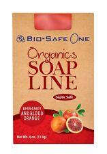 Bio-Safe One Bergamot & Blood Orange Organic Soap -100% Natural Oils - 4 oz Bar