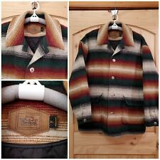 Vintage Woolrich Southwest Wool Blanket Quilted Jacket Coat Made in USA Size XL