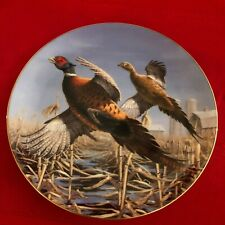 David Maass Pheasant Plate Collection~The Danbury Mint~F7655~Tandem Flight