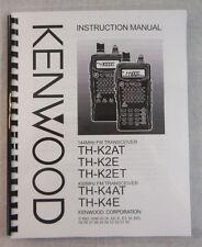 Kenwood TH-K2AT, TH-K4AT Manual -  Premium Card Stock Covers & 28 LB Paper!