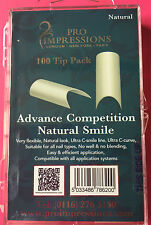 Pro Impressions Box 100 Advance Competition Natural Smile Tips Nails Acrylic Gel