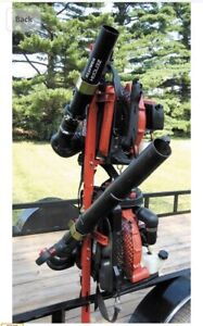 Jungle Jims Backpack Blower Rack for 2 Blowers Lawn & Landscape Trailers